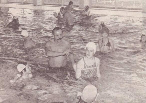 Schwimmkurs im November 1979