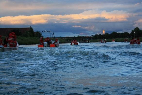 Aufbruch zur Bootssternfahrt