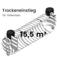 15,5m³ Behälter mit Trockeneinstieg