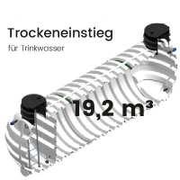 19,2 m³ Behälter mit Trockeneinstieg