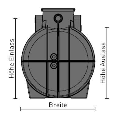 Speidel-Kunststofftank-seitenansicht