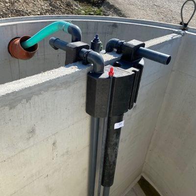 Kläranlage-Technikmodul-Sano-Clean-vorinstalliert