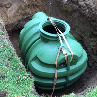 Kunststofftank-Erdtank-Einbau