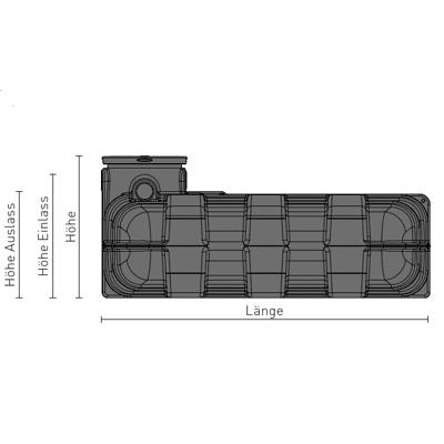 Einbauzeichnung-Speidel-Flachtank-seitenansicht