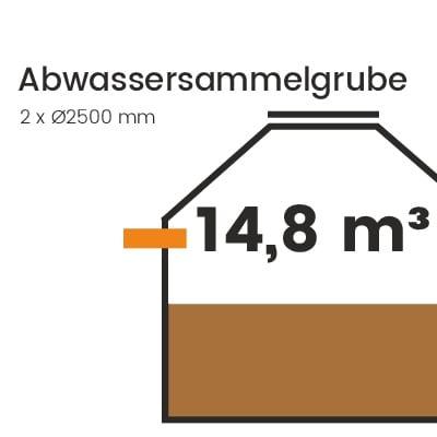 Abwassersammelgrube-14800l