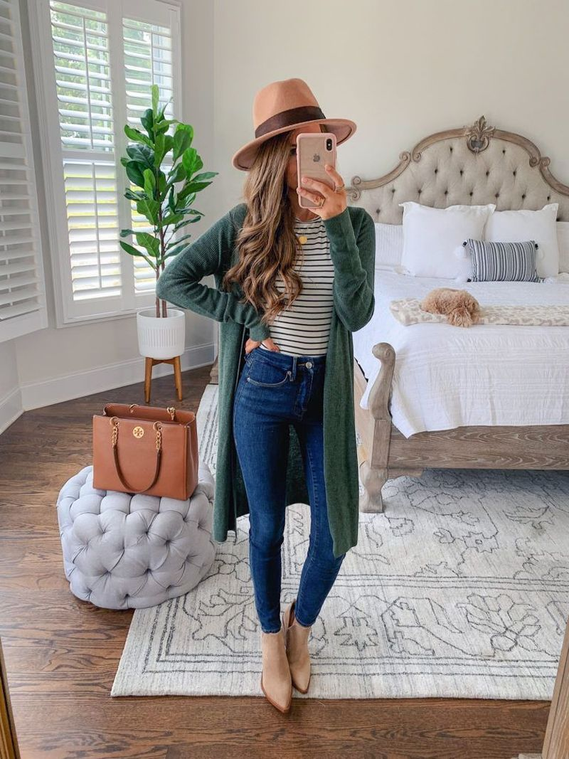44 Cute Spring Outfits for Women With Cardigan
