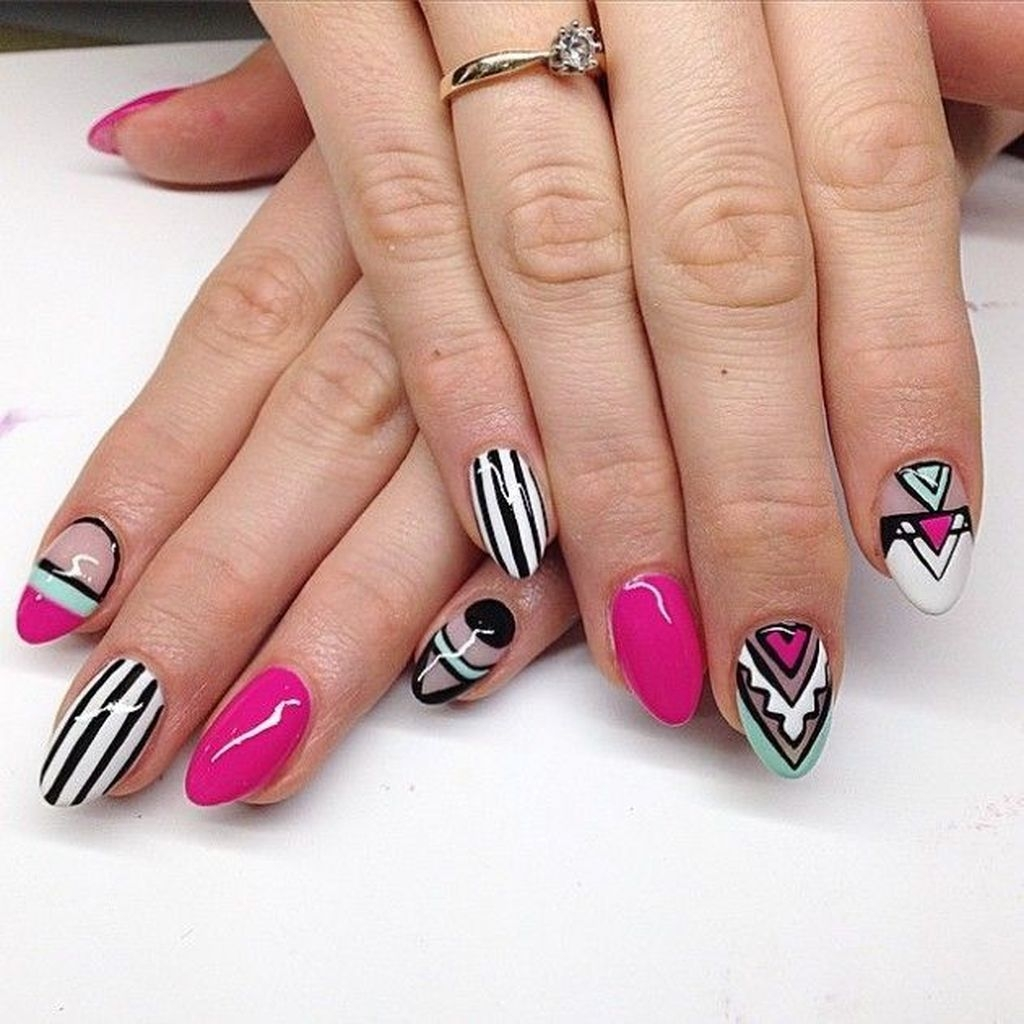 Cozy Aztec Nail Art Designs Ideas