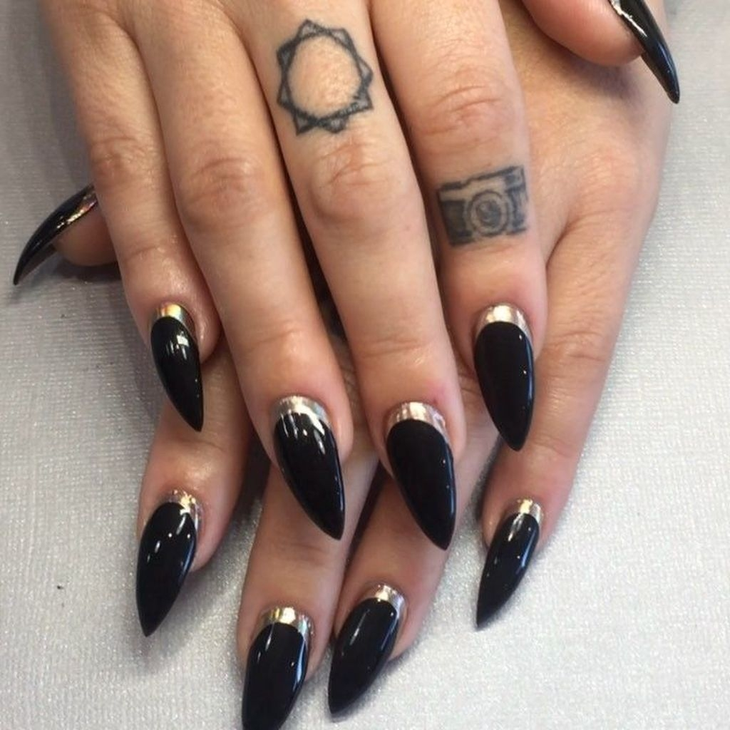 Half Moon Nail Art Designs Ideas