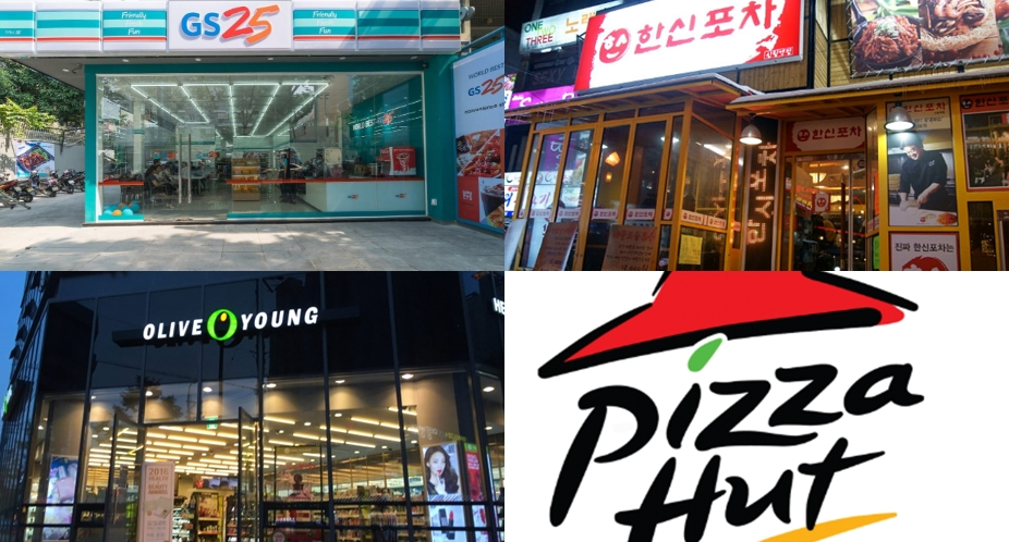 Top 5 Franchise with highest annual sales in Korea