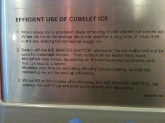 I prefer decent ice to soggy ice