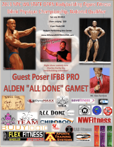 "Guest poser Alden ""ALL DONE"" Gamet Wa state bodybuilding"