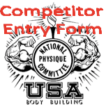 NPC WA State Open Bodybuilding Figure fitness Bikini Physique Championship competitor entry form