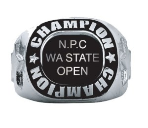 NPC WA STATE Open Overall Mens ring