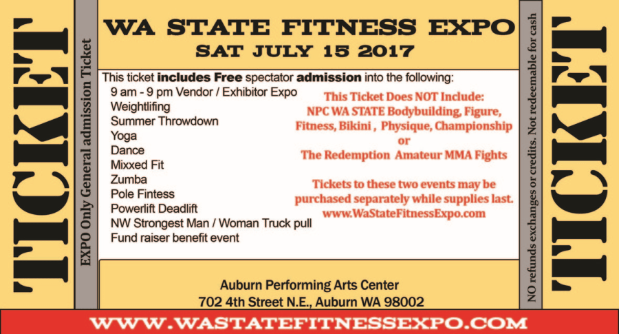 2017 WA State Fitness EXPO_Ticket