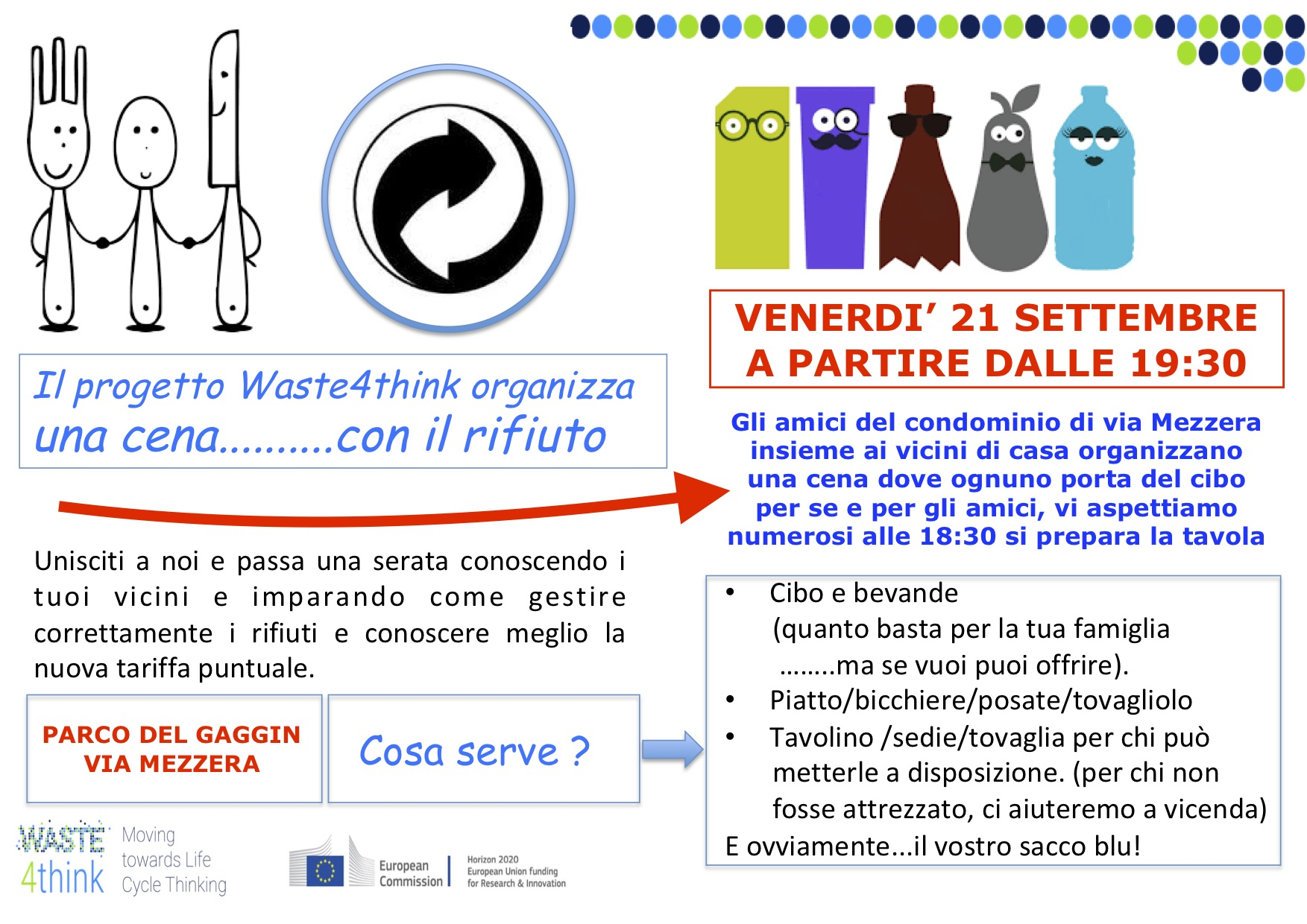 Seveso The Waste4think Project Organizes A Dinner With
