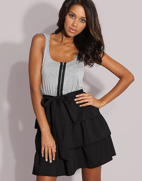 ASOS Frill Tiered 2 In 1 Dress
