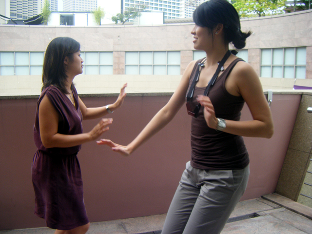 Luanne & Lishan doing interpretative dance