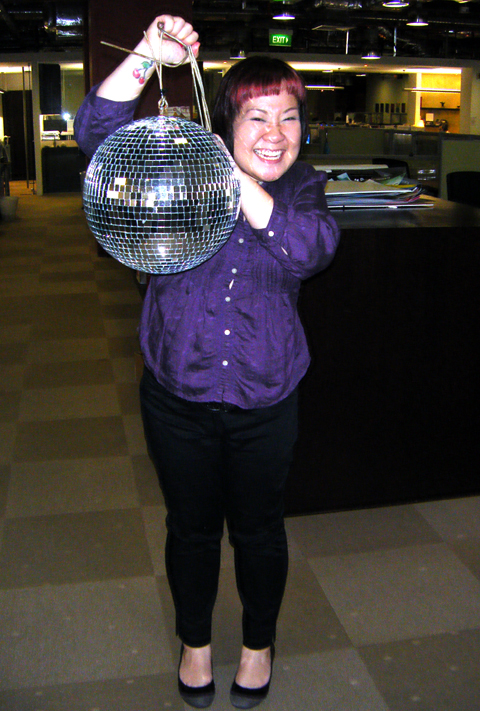 Purple & the new pet disco ball