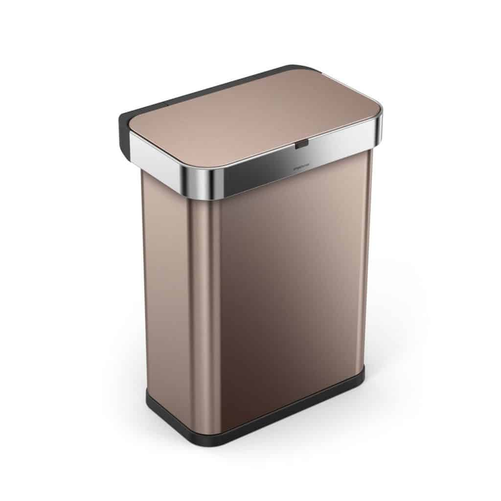 semiround sensor touchless kitchen trash cans simplehuman