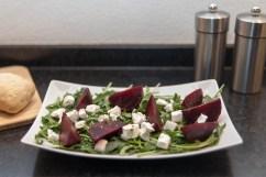 BEET: Goat cheese-beet salad