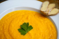 CARROT: Carrot-ginger soup