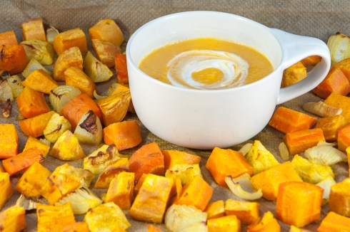 SWEET POTATO: Roasted sweet potato soup