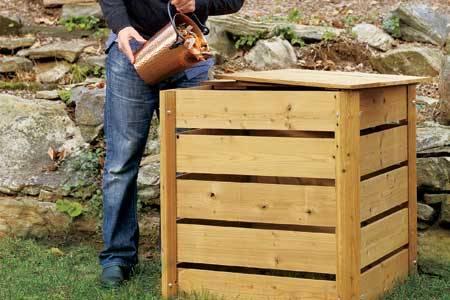 la de compost din lemn pentru gradina