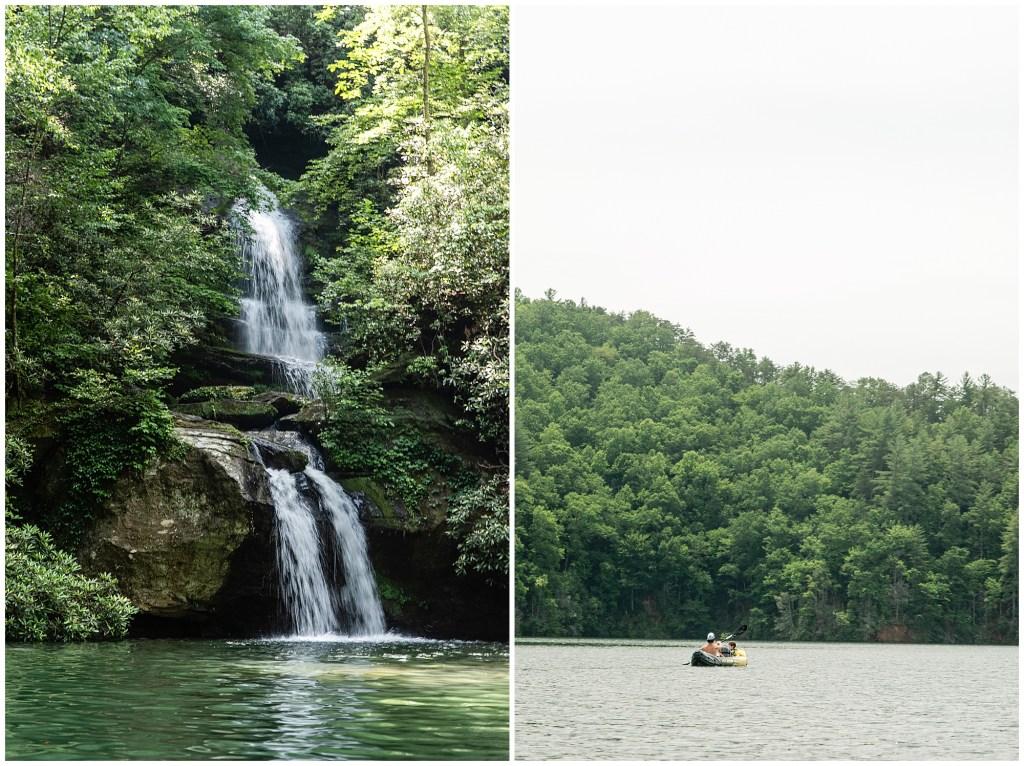 wrights creek waterfall lake jocassee