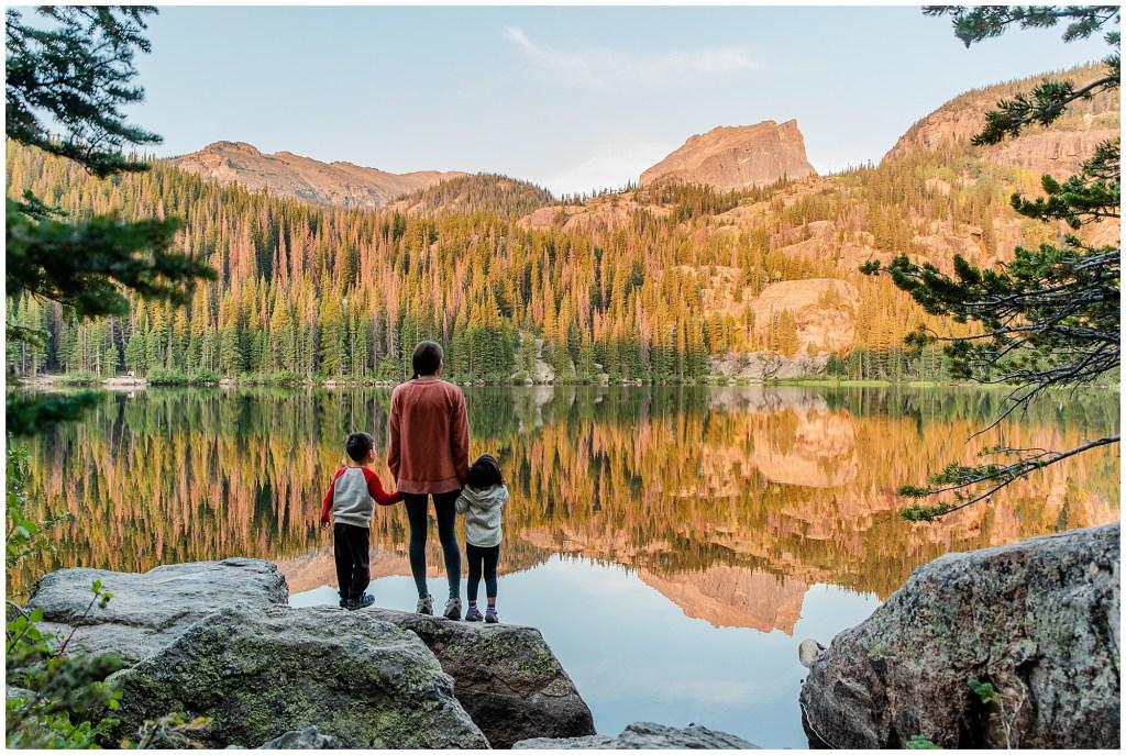 sunrise bear lake rocky mountain national park