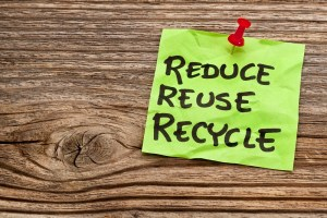reduce, reuse and recycle note