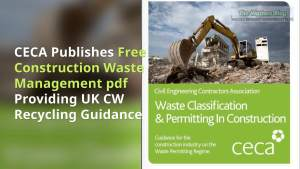 Image shows Construction waste management pdf cover.