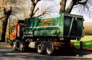 Bywaters Recycling RCV - collection in progress.