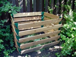 Garden composting to help the environment.