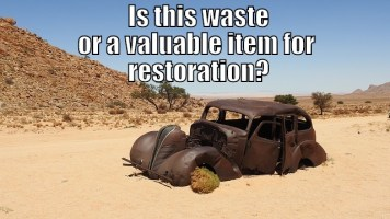 """Image of an abandoned vintage car is it waste - Legal Definition of """"Waste"""", article illustration."""