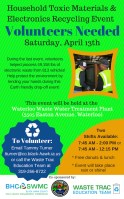 Volunteer for the Spring Drop-off Event!