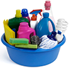 Choose alternative cleaners over hazardous cleaners.