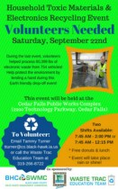 Volunteer for the Fall Drop-off Event