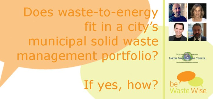 Waste-to-Energy in the Waste Management Hierarchy