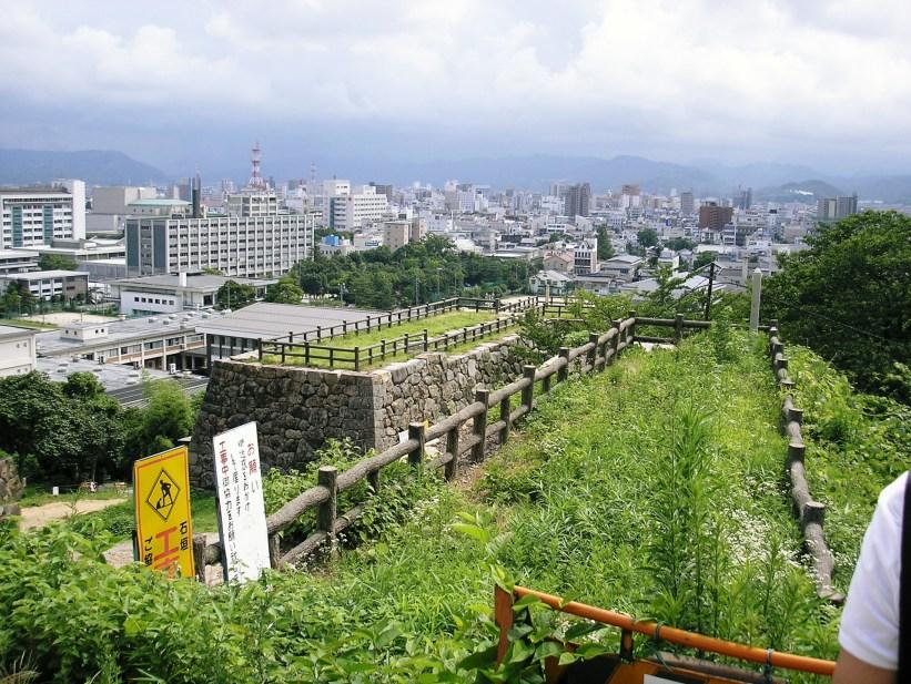 久松公園の鳥取城址から