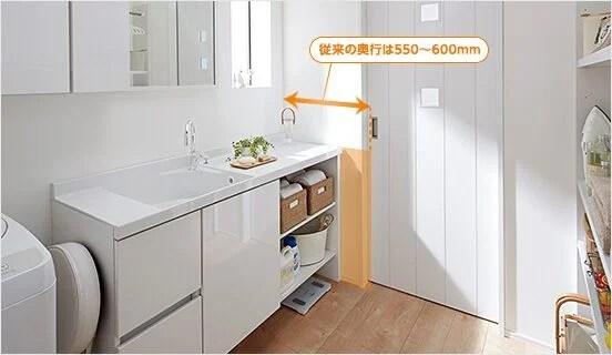 洗面室コンパクト