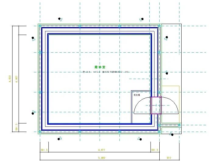 ドラム教室建物平面図