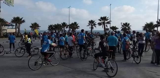 نتيجة بحث الصور عن وزير الرياضة يقود ماراثون الدراجات بالإسكندرية