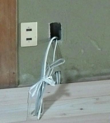 TVアンテナケーブルの配線