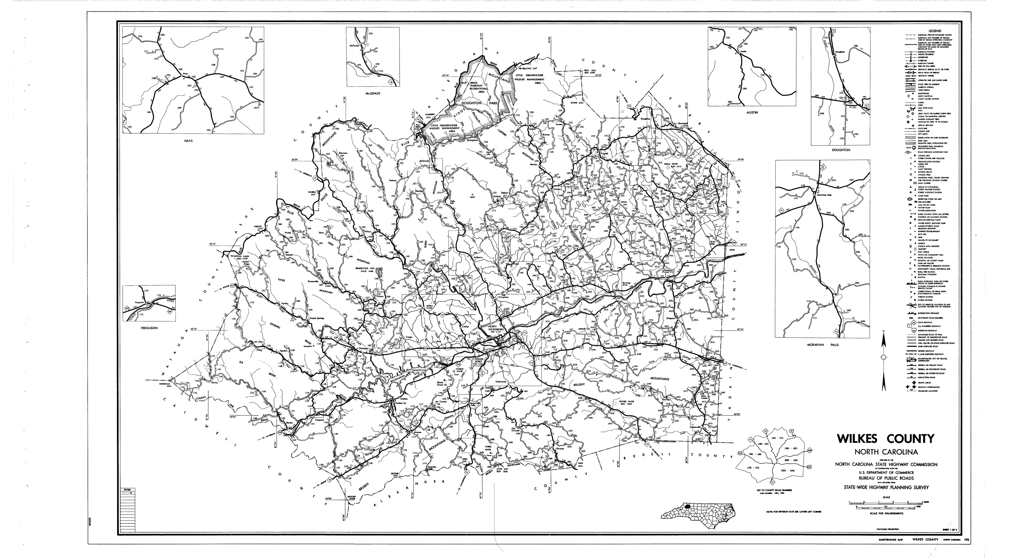Ashe County Nc Road Map