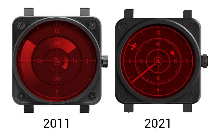 Bell & Ross BR 03 Red Radar Ceramic 2011 vs 2021