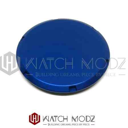 Blue slim fit case back for nh35 and nh36 movement