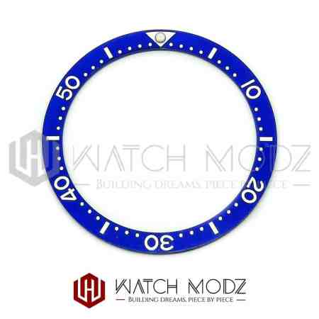 Flat Ceramic Bezel Insert: Blue With White Numbers SKX007 Style