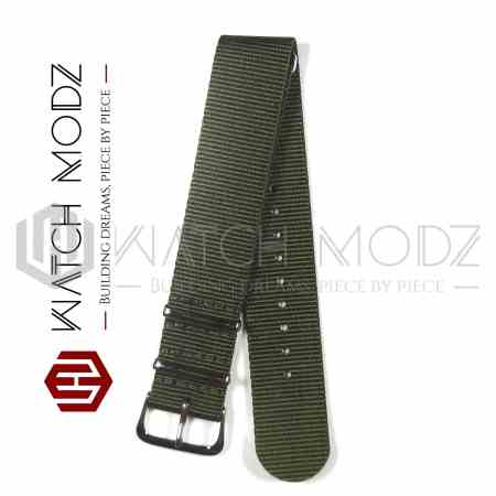 22mm Nato Strap Army Green side view