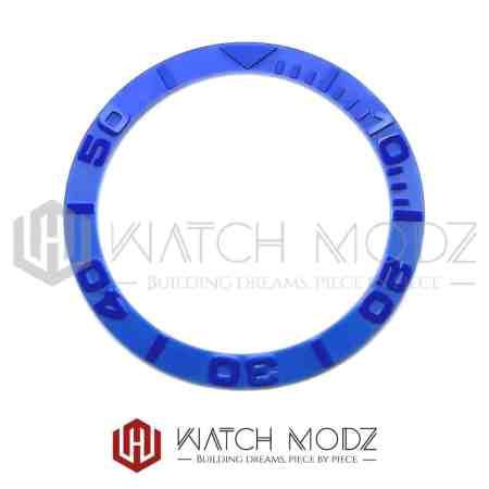 Sloped Ceramic Bezel Insert: Blue YM Style 3D Numbers