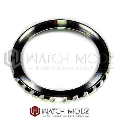 Polished Silver Tire Style Bezel Edge